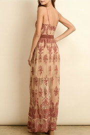 ALB Anchorage Lace-Overlay Rust Maxi - Front full body