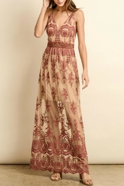 ALB Anchorage Lace-Overlay Rust Maxi - Front cropped