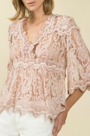 POL Lace Overlay Top - Product Mini Image