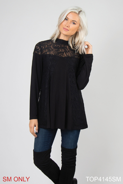 Simply Noelle Lace Overlay Top - Product List Image