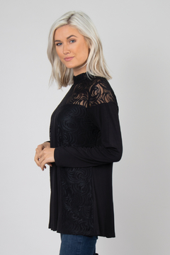 Simply Noelle Lace Overlay Top - Alternate List Image