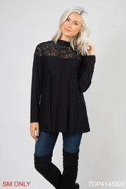 Simply Noelle Lace Overlay Top - Product Mini Image
