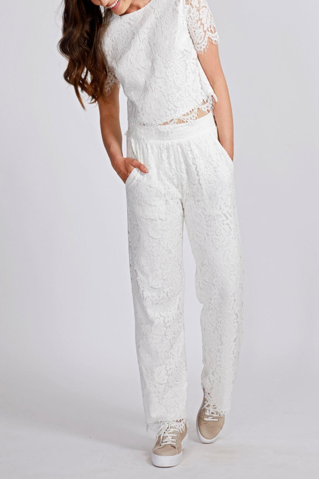 Dry Lake Lace Pants - Front Cropped Image