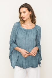 Mystree Lace Peasant Top - Product Mini Image