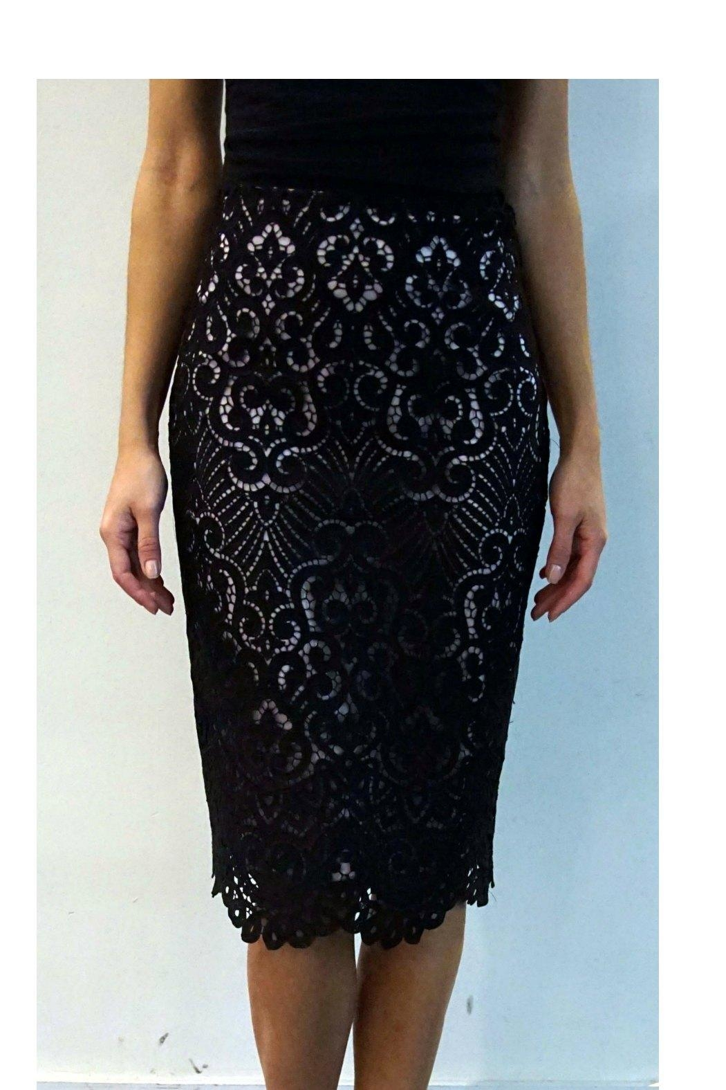 Nicole Miller Lace Pencil Skirt - Main Image