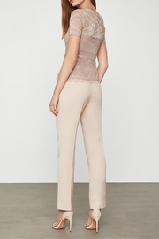 BCBG MAXAZRIA Lace Peplum Top - Front full body