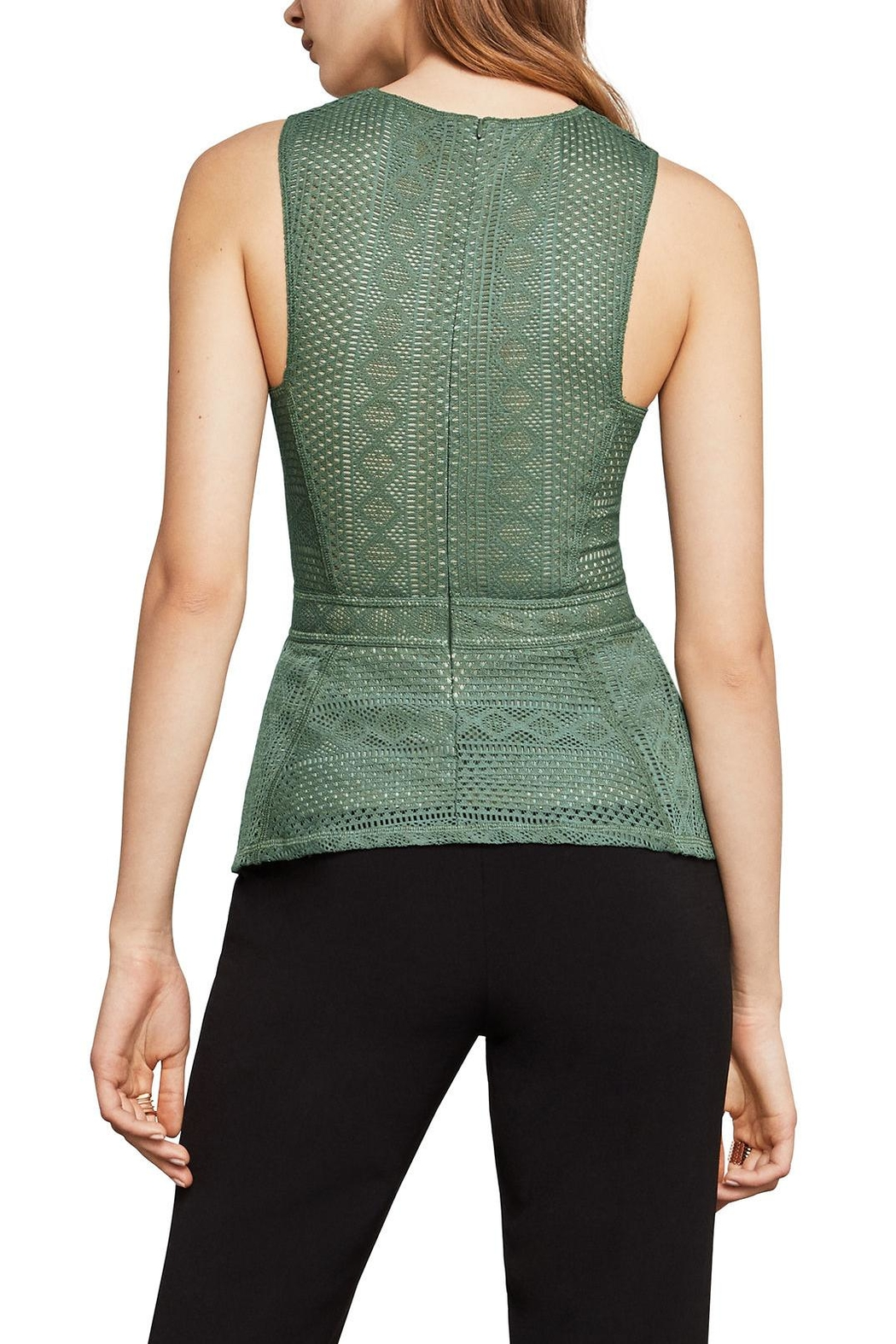 BCBG Max Azria Lace Peplum Top - Front Full Image