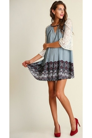 People Outfitter Lace Print Dress - Product Mini Image