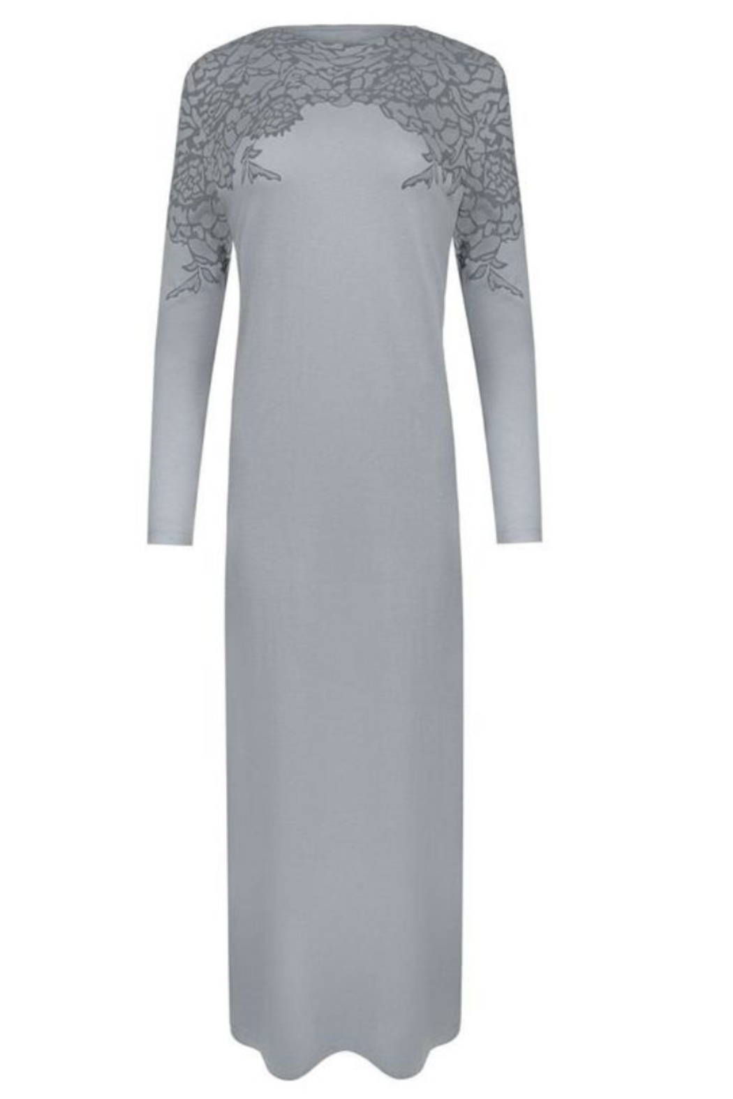 Velvette  Lace print over-the-head gown - Front Cropped Image