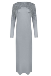 Velvette  Lace print over-the-head gown - Front cropped
