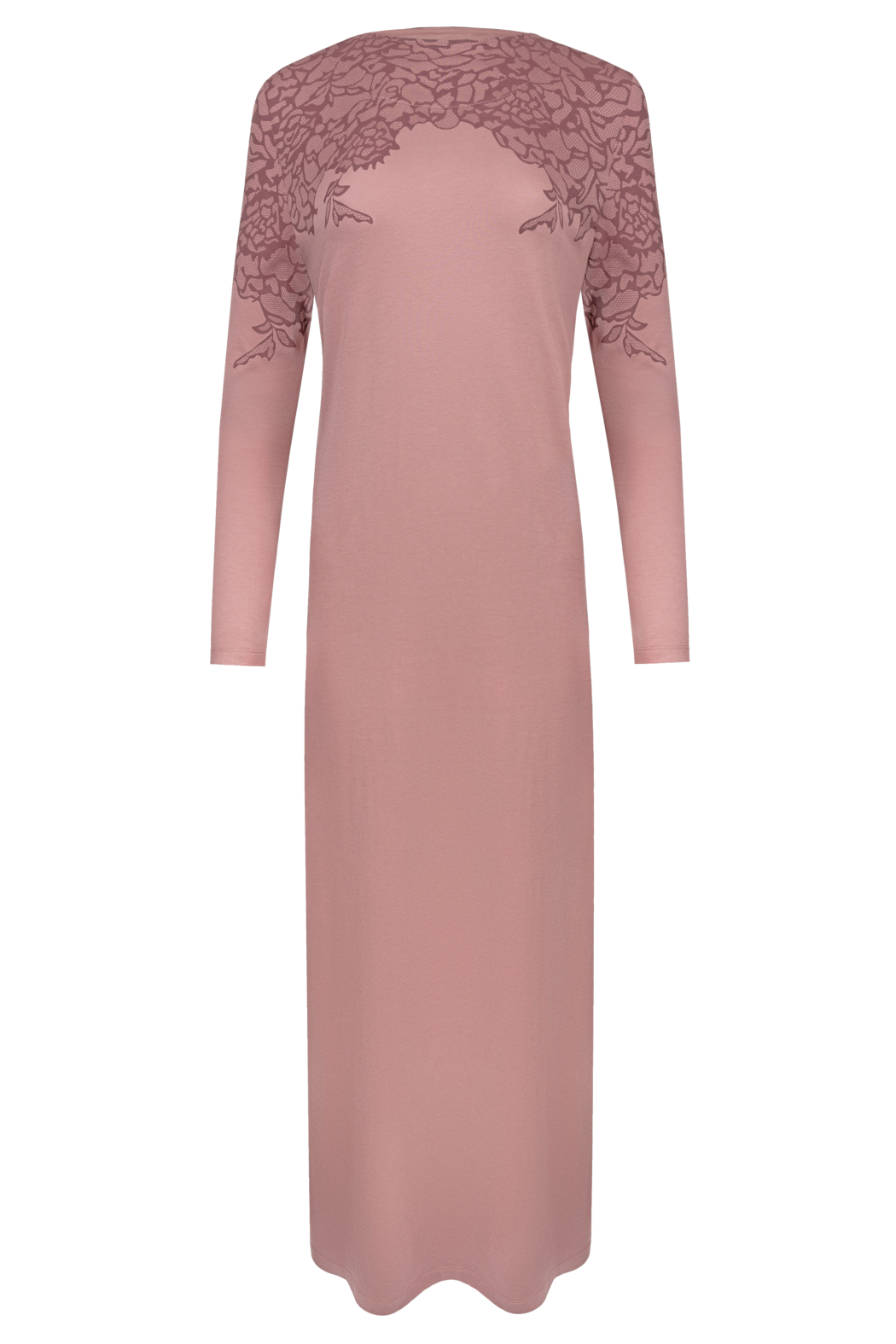 Velvette  Lace print over-the-head gown - Main Image