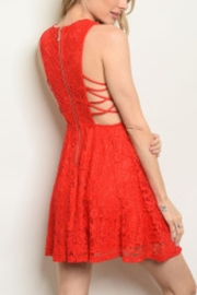 Lyn-Maree's  Lace Red Fit & Flare - Front full body