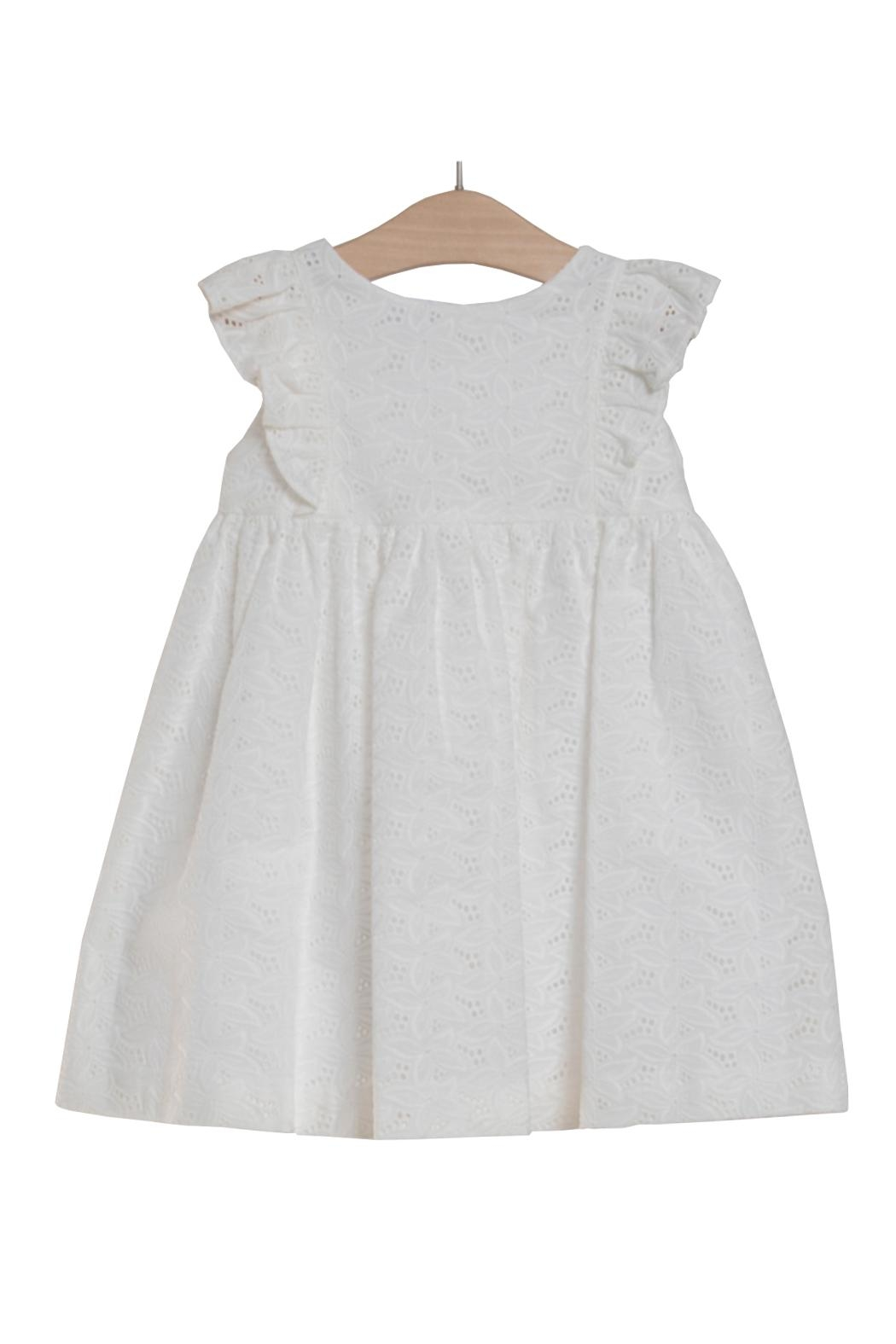 Fina Ejerique Lace Ruffle Dress. - Front Cropped Image