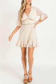 Lush  Lace Ruffle Mini Dress - Product Mini Image