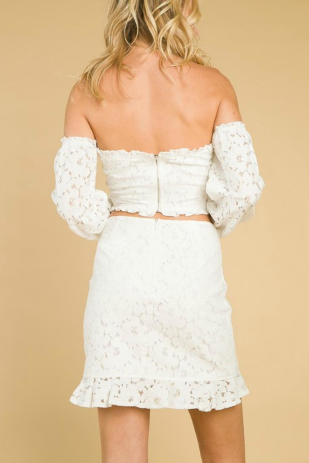 Pretty Little Things Lace Ruffle Skirt - Back Cropped Image