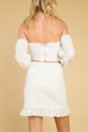 Pretty Little Things Lace Ruffle Skirt - Back cropped