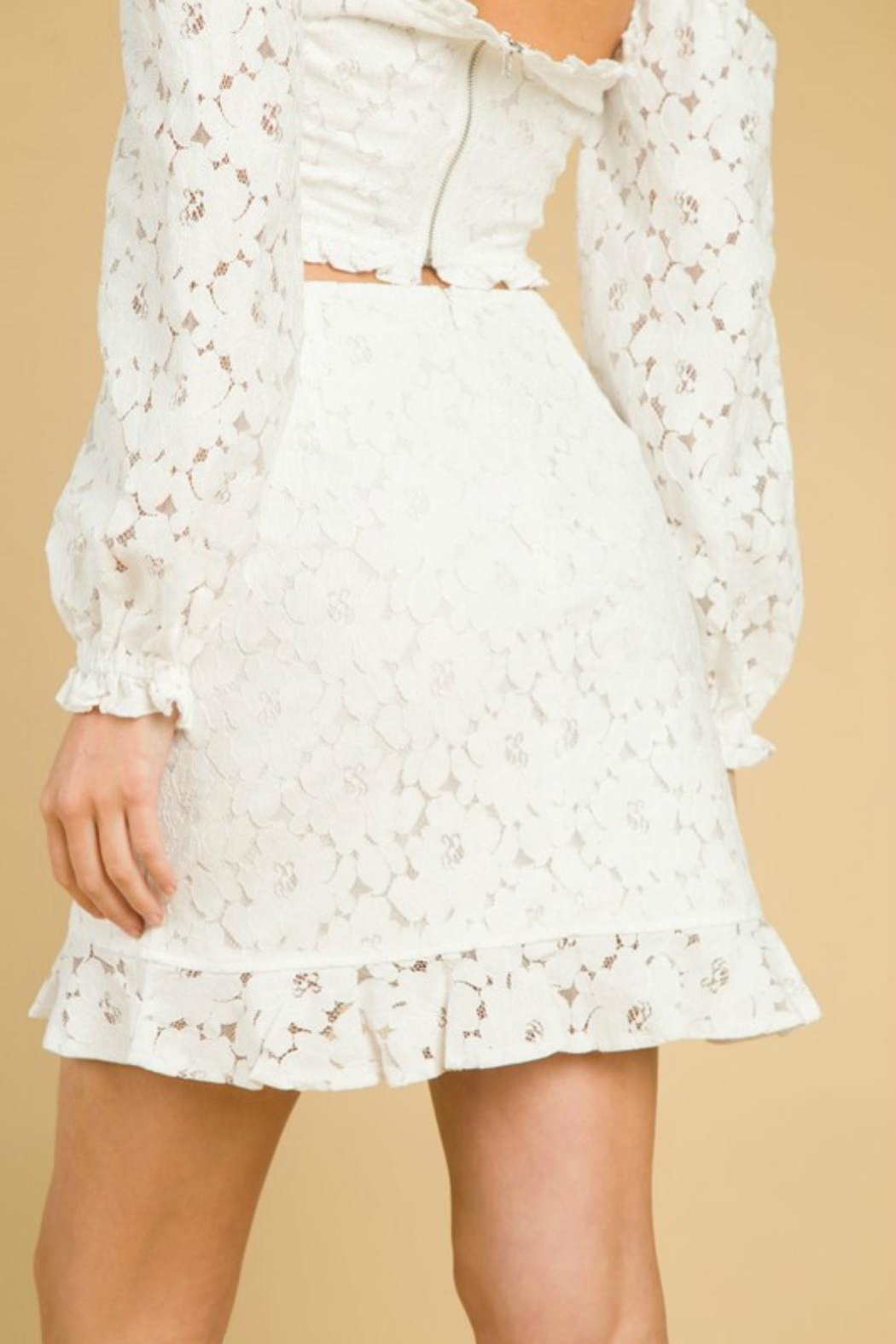 Pretty Little Things Lace Ruffle Skirt - Front Full Image