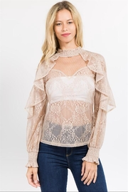 Lulumari Lace Ruffle Top - Product Mini Image