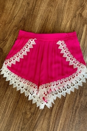 Lucy-Love Lace Scallop Hem Shorts - Product Mini Image
