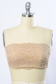 Leto Lace Seamless Back Bandeau - Front full body
