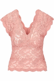 Bishop + Young Lace Shell - Front cropped
