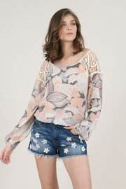 Molly Bracken Lace Shoulder/Back Top - Product Mini Image