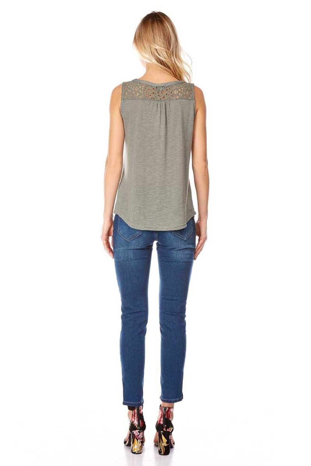 Best Mountain Lace Shoulder Tank - Front Full Image
