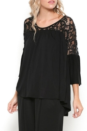 Gifted Lace Shoulder Top - Product Mini Image
