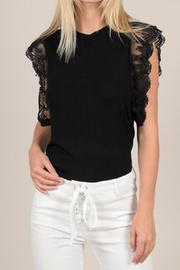 Molly Bracken Lace Shoulder Top - Product Mini Image