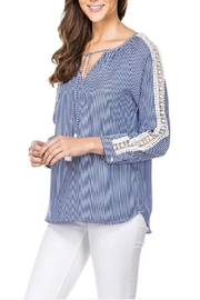 Jade Lace Shouldered Blouse - Product Mini Image