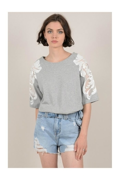 Molly Bracken Lace Shoulders Top - Product List Image