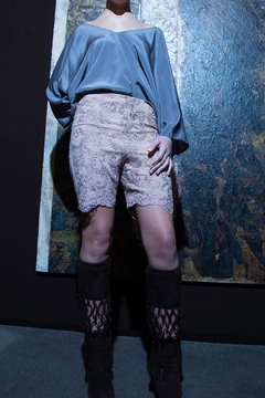 Shoptiques Product: Lace Silk Shorts