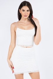 The Bae House Lace SKIRT - Front cropped