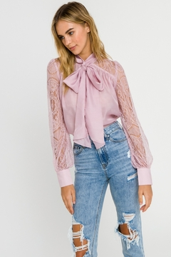 Endless Rose Lace Sleeve Blouse - Product List Image