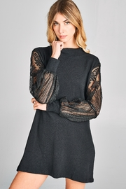 Racine Lace-Sleeve Cotton Dress - Product Mini Image