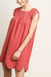 Umgee USA Lace Sleeve Dress - Product Mini Image