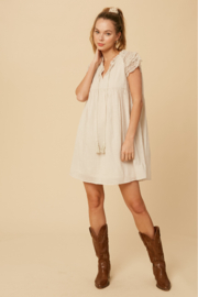 Listicle Lace Sleeve Dress - Side cropped