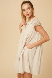 Listicle Lace Sleeve Dress - Back cropped