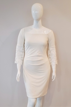 Shoptiques Product: Lace Sleeve Dress, Offwhite