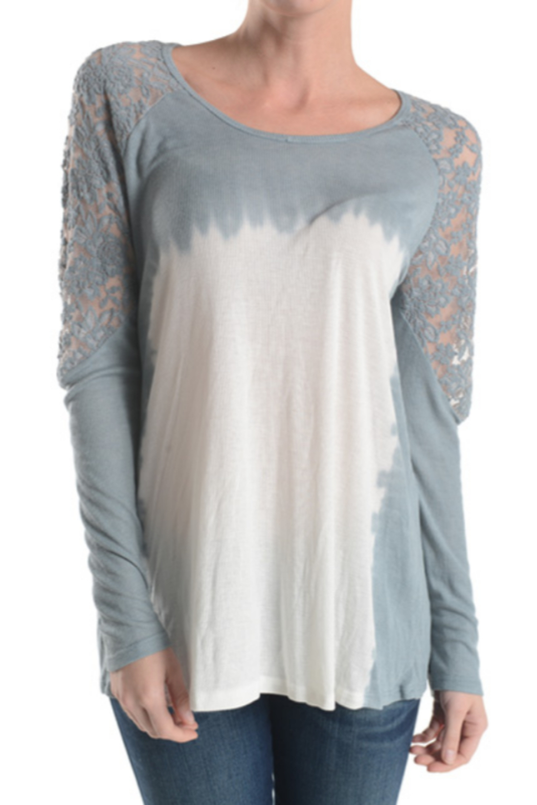 T Party Lace Sleeve Knit Top - Main Image