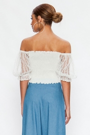 Flying Tomato Lace Sleeve Off-Shoulder - Front full body