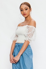 Flying Tomato Lace Sleeve Off-Shoulder - Side cropped