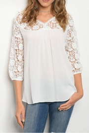 Comme Toi Lace Sleeve Top - Product Mini Image
