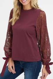 Listicle Lace Sleeve Top - Product Mini Image