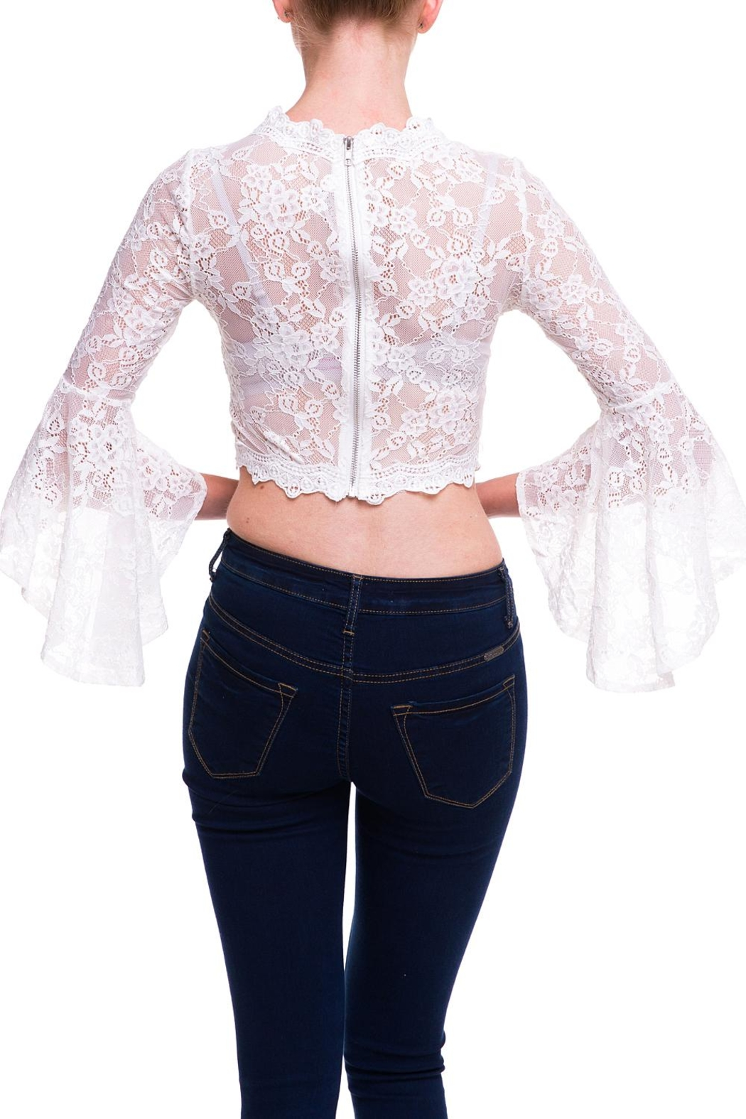 2642c18b15797 Salt Lace Sleeve Top from New York by Dor L Dor — Shoptiques