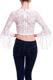 Salt Lace Sleeve Top - Back cropped