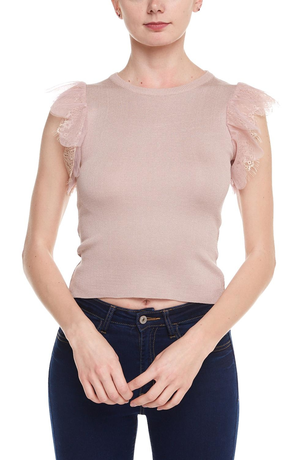 ff19cbc64062f Alythea Lace Sleeve Top from New York by Dor L Dor — Shoptiques