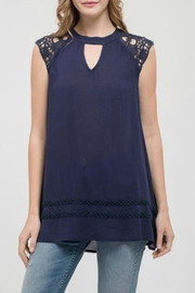 Blu Pepper Lace Sleeve Tunic - Product Mini Image