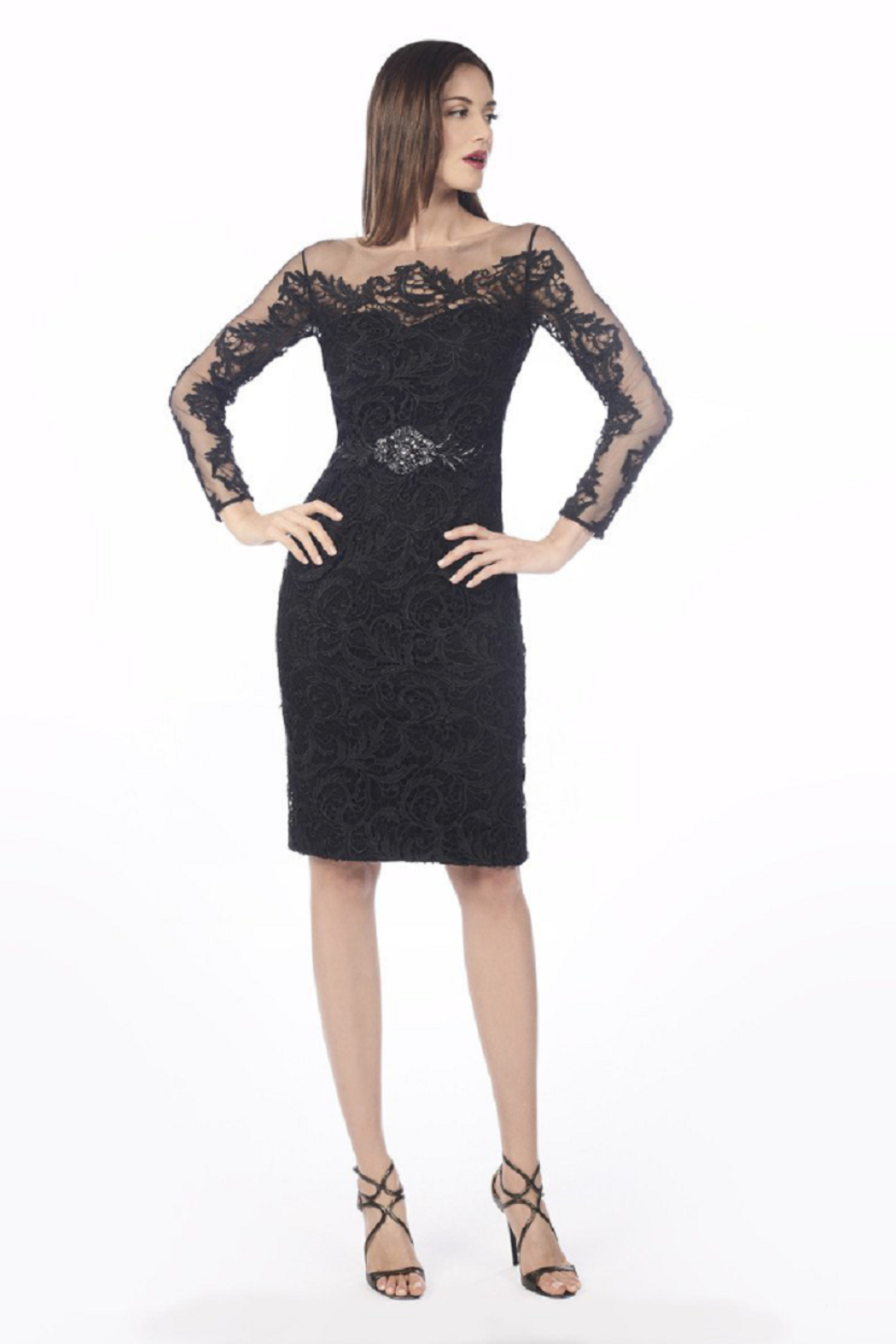 Daymor Lace Special Occasion Dress - Front Full Image