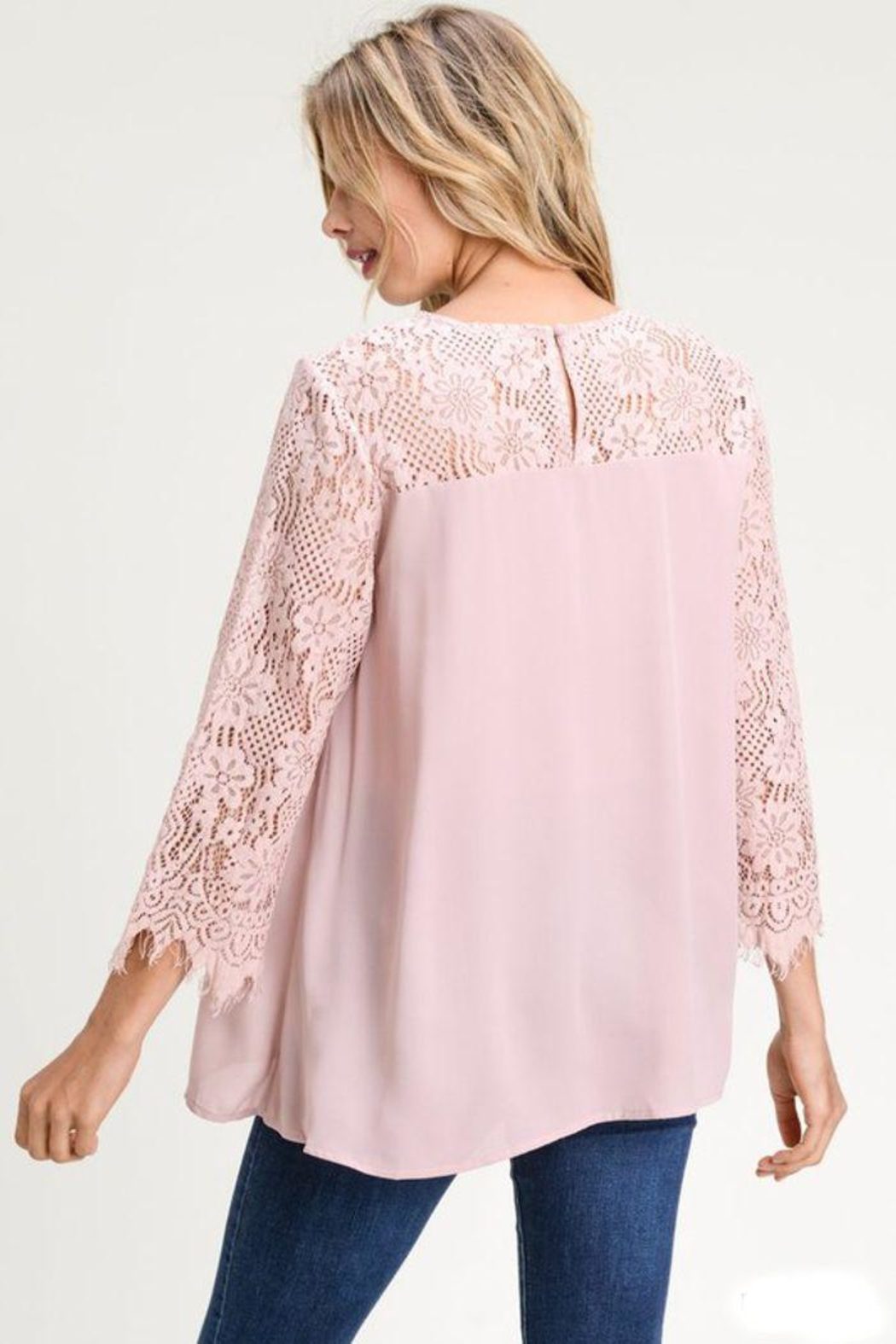 The Dressing Room Lace Sweetheart Blouse - Front Full Image